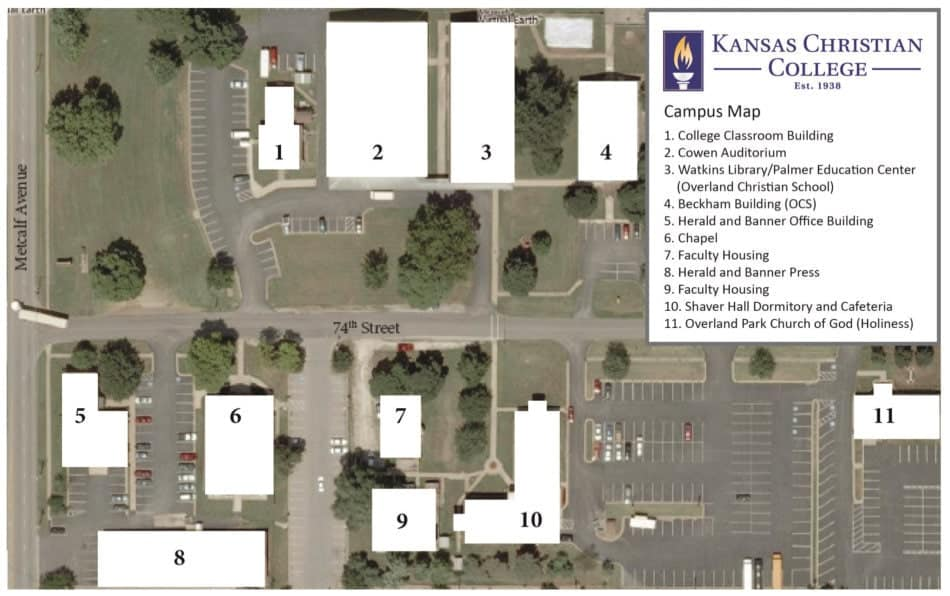 Kansas Christian College Campus Map